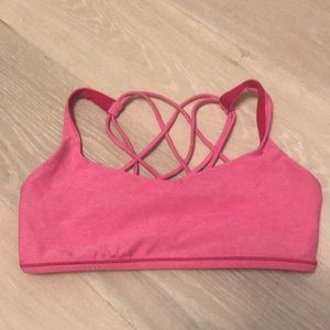 Lululemon Free to Be Wild Bra - hot pink - sz 10